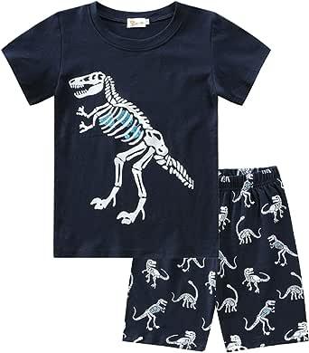 Molyhua - Pijama de algodón para niño, corto, pijama