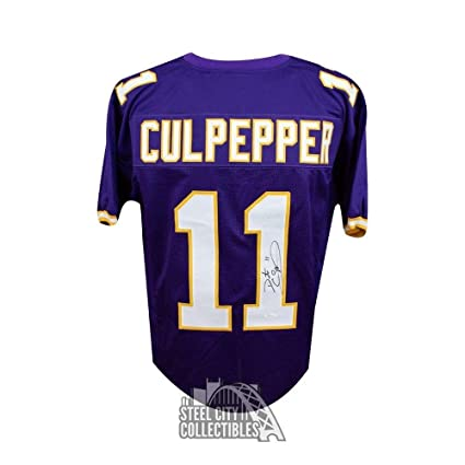 Signed Daunte Culpepper Jersey - Custom Purple - JSA Certified - Autographed  NFL Jerseys 5087e7f86