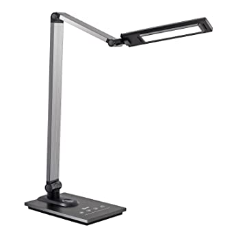 Imigy Aluminum Alloy Led Desk Lamp With Usb Charging Port, 9 W Dimmable Office Lamp, Slide Touch Control With Stepless Adjustable Brightness And 3 Color Modes, Black by Imigy