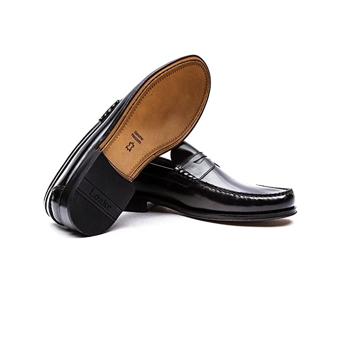 Loake Scarpe Mocassino In Pelle Princeton 8 UK42 EU Nero