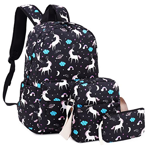 dc6f28cdc2 School Backpack Girls Cute Bookbag fit 15inch Laptop SchoolBag for Teens  Boys Kids Travel Daypack(