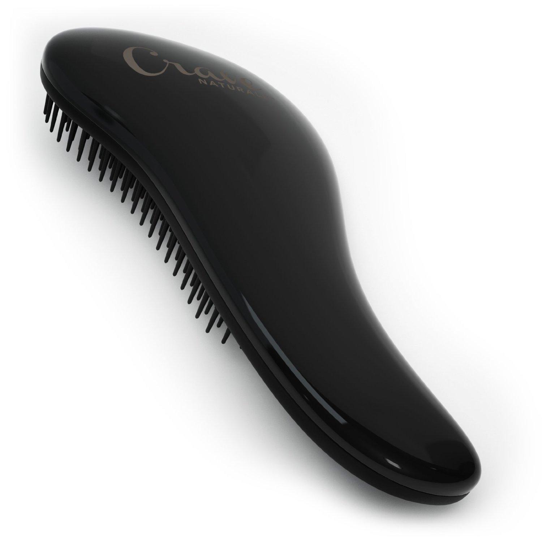 Detangling Brush - Glide Thru Detangler Hair Comb or Brush - No More Tangle - Adults & Kids - (Black)