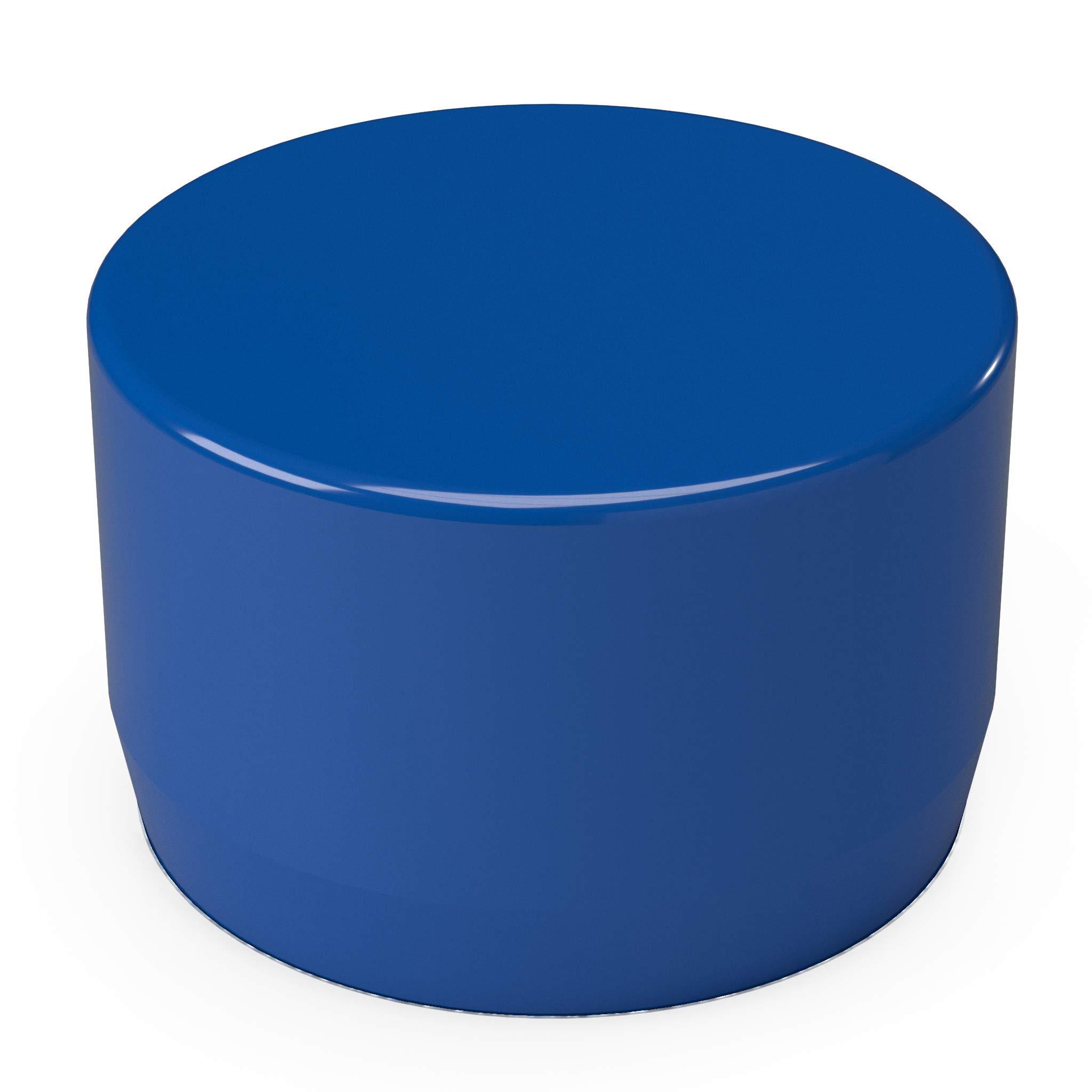 FORMUFIT F114EEC-BL-10 PVC External End Cap, Furniture Grade, 1-1/4'' Size, Blue (Pack of 10)