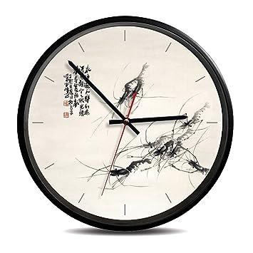 Relojes De Pared De Cuarzo Reloj De La Sala De Decoración De Estilo Rural para Estudio De La Oficina 12 Pulgadas,B: Amazon.es: Hogar