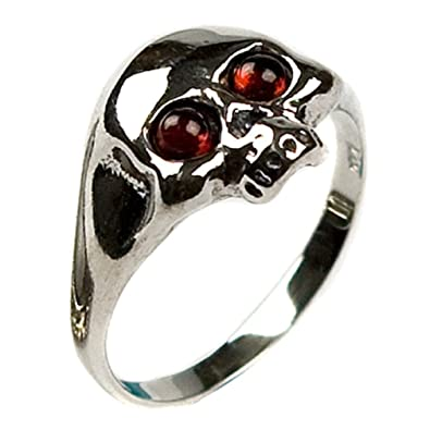 Honey Amber and Sterling Silver Skull Ring jGBVWRnm