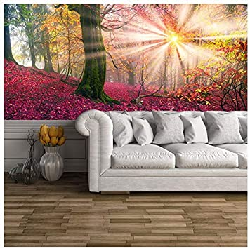 Amazon Com Azutura Enchanted Forest Wall Mural Pink Trees Photo