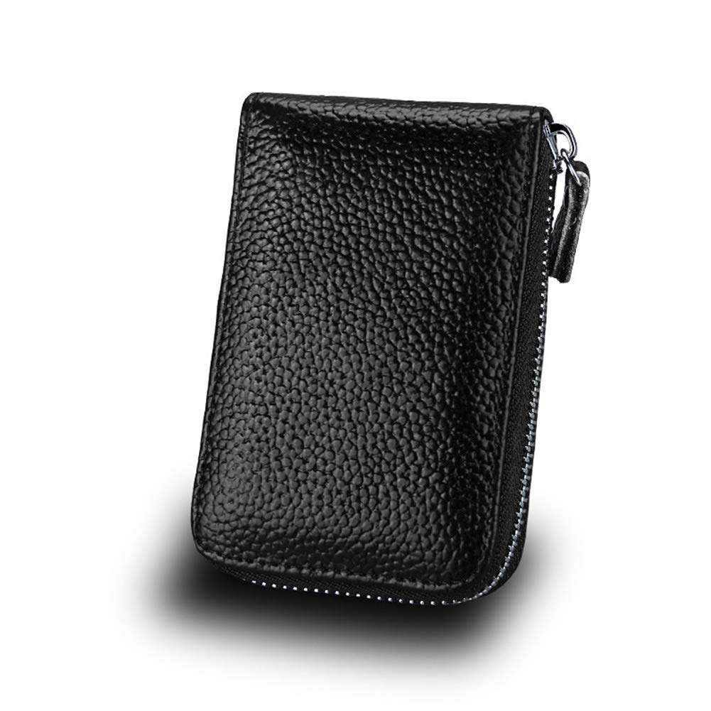 Clearance sale RFID Blocking Credit Card Holders Case Organizer Genuine Leather for Women or Men Zip-Around Security Wallet