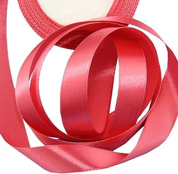 USIX 10 rollos de cinta de satén de doble cara de 2 cm para regalo ...