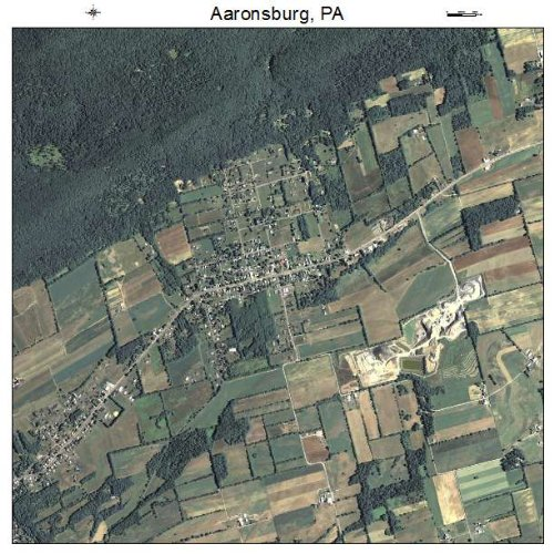 Aerial Photography Map of Aaronsburg, Pennsylvania 2015 PA