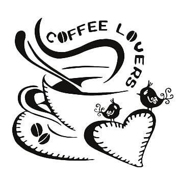 Cosanter Wandtattoos Küche Wanddeko Kaffee Wandsticker Wandaufkleber guter  Kaffee COFFEE LOVERS Aufkleber
