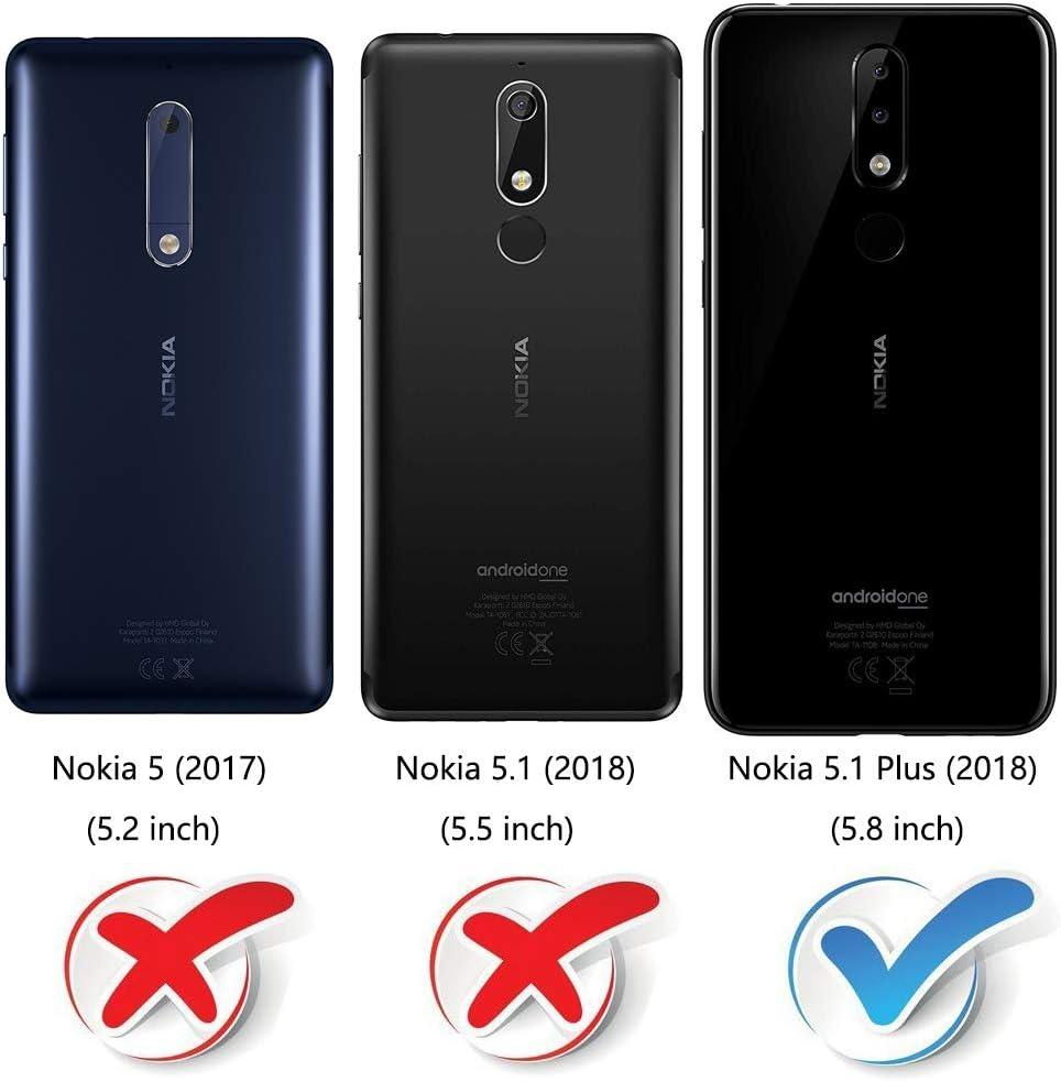 COODIO Funda Nokia 5.1 Plus con Tapa, Funda Movil Nokia 5.1 Plus ...