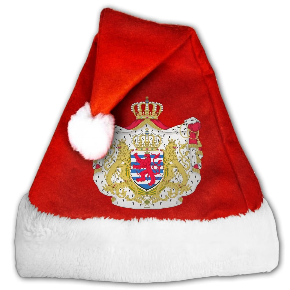 ODLS7 Great Coat Of Arms Of Luxembourg Christmas Gifts Hats Santa Hats Fashion Holiday Home Party Decorations For Kids Adult