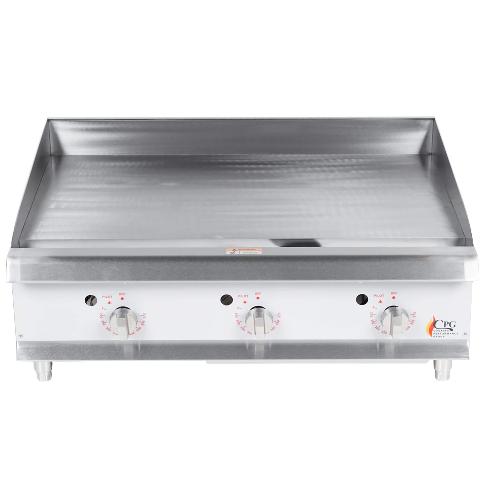TableTop King G36T 36'' Heavy-Duty Gas Countertop Griddle with Thermostatic Controls - 90,000 BTU by TableTop King
