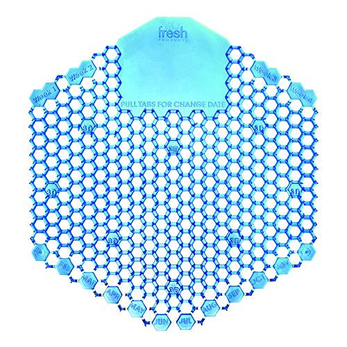 Fresh Products 3WDS60CBLBX Wave 3D Urinal Deodorizer Screen, Blue, Cotton Blossom, 10 Per Box by Fresh Products
