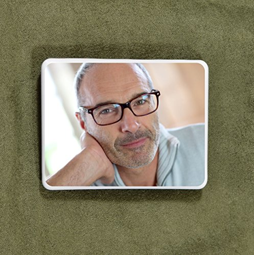 "All Italian Custom Ceramic Memorial Photo Tile - Personalized Picture for headstones 4.5""x3.5"""