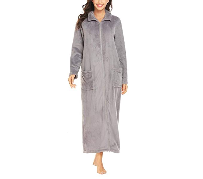 b1c3ad8ee0 Image Unavailable. Image not available for. Color  Women Winter Sleepwear  Kimono Robe Plush Soft Warm Robe Female ...