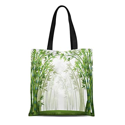 28ed0f0d3930 Amazon.com: Semtomn Canvas Tote Bag Shoulder Bags Green Jungle ...