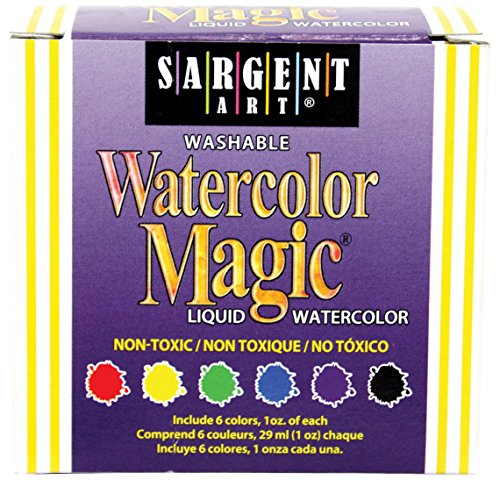 Sargent Art 22-6022 6-Count 1-Ounce Watercolor Magic Kit (Washable Watercolor Paint)