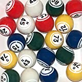 Official Professional-Use Ping Pong Bingo Balls for Electronic Bingo Blowers or Manual Bingo cages, Multi-Color Coated Double Number Ping Pong Ball Set by Mr. Chips, Inc