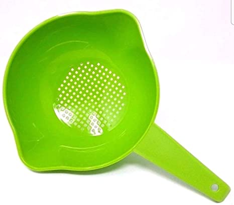 Amazon Com Tupperware Small 1 Quart Colander With Handle In Apple Kitchen Dining