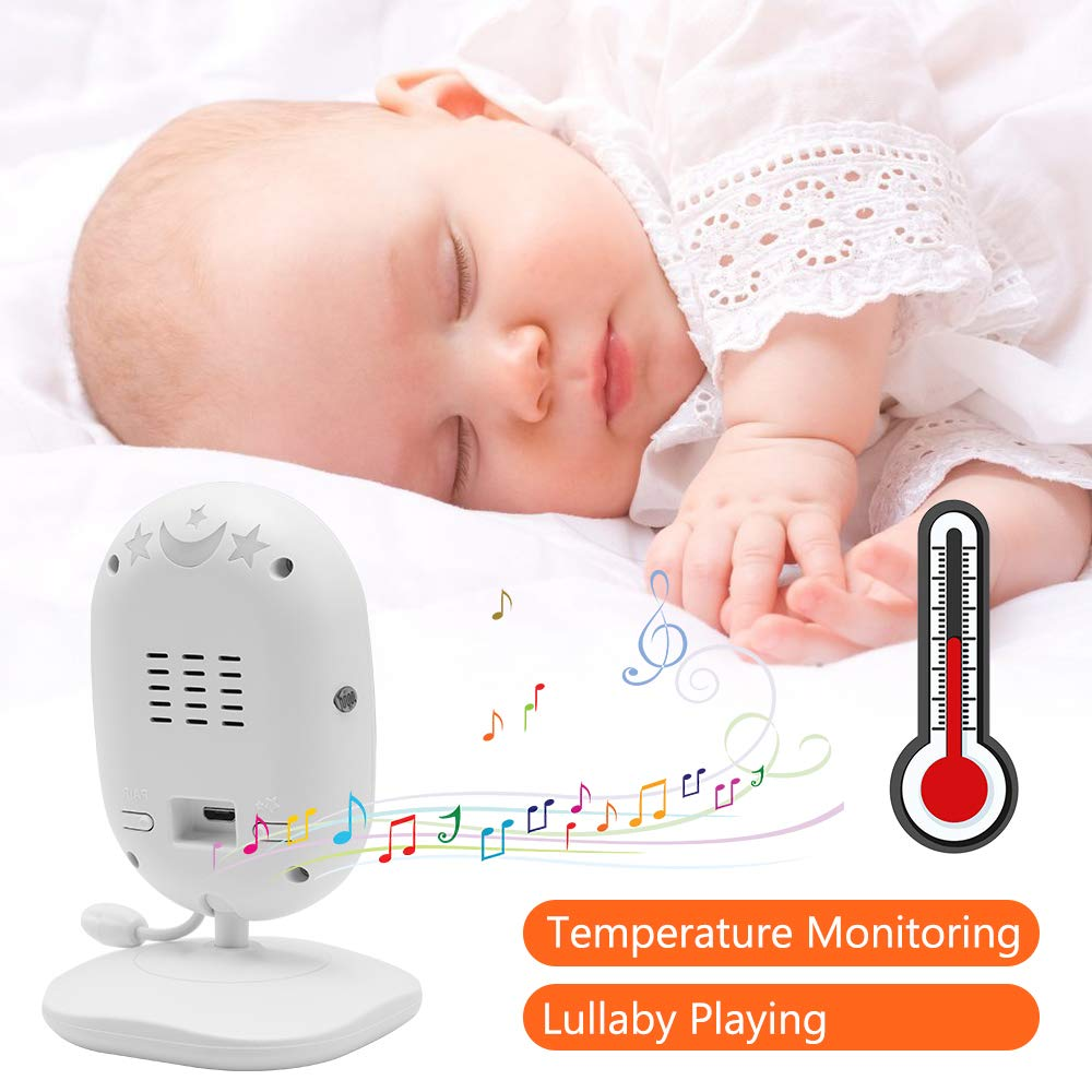 Baby Monitor, Dragon Touch DT40 4.3 Inch Video Baby Monitor with Camera, Infrared Night Version, Support Multi Cameras, Temperature Monitoring, Lullaby, Two-Way Audio and VOX Auto Baby Camera by Dragon Touch (Image #2)