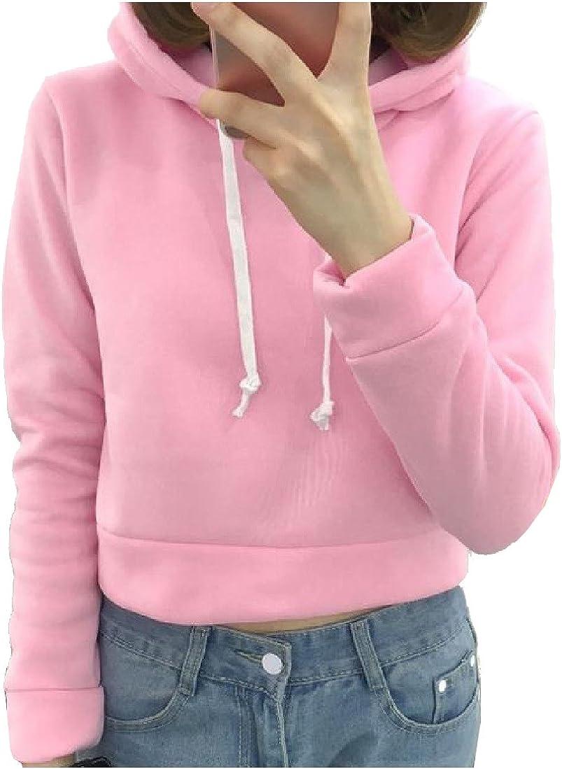 LoveSky Womens Drawstring Floral Printed Pocket Hooded Outwear