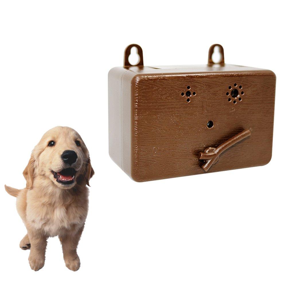 PlantLover Mini Anti Barking Deterrent - Prime Ultrasonic Dog Bark Control - Pet Training Collar - Stop Barking Device - No Bark Tool Bark Stop Repeller - Safe for Dogs - Up to 50 Feet