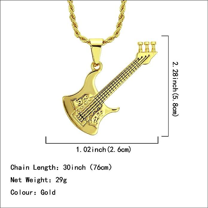 MSTOT Colgante con Forma De Guitarra De Hip-Hop Europeo Y ...
