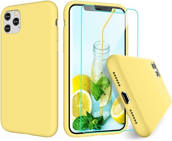 Comprar Funda silicona Amarilla para Iphone XS MAX Iphone 11 PRO
