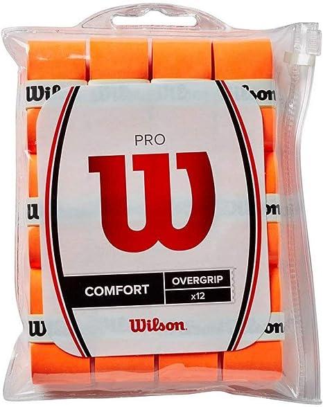 Wilson Pro Overgrip Comfort 3 Pack Burn Orange-New