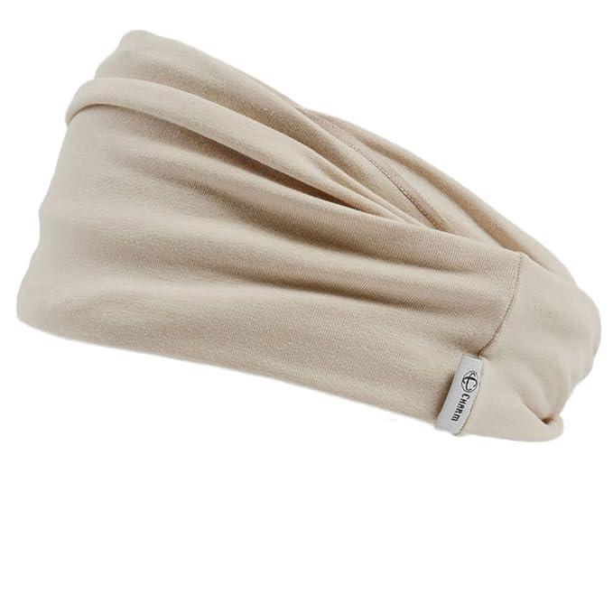 Casualbox Mens Japanese Infinity Headband - Womens Cotton Headwrap Elastic Hair  Band Neck Gaiter Ear Warmer 4aefdee9c33
