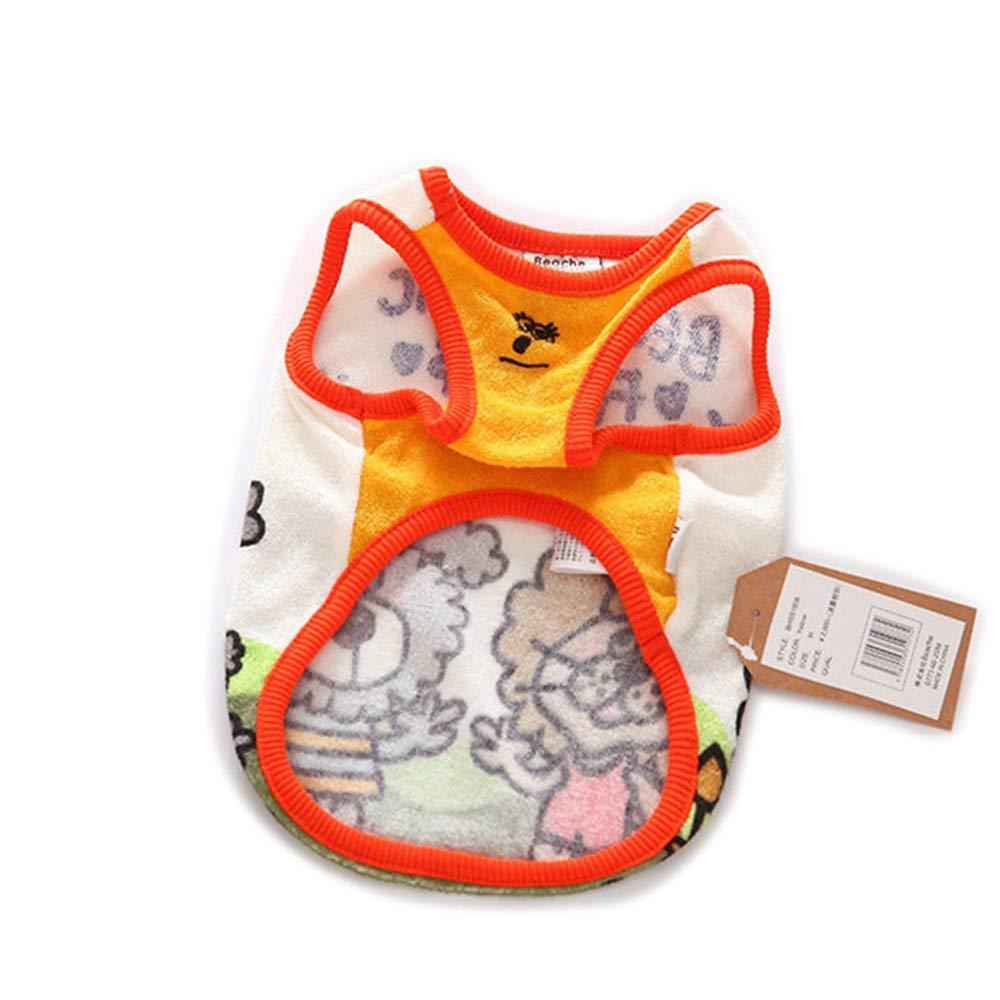 orange L orange L Huayue Fashion Trend Dog Cotton Jersey Sweater Pet T-Shirt Breathable and Comfortable pet Clothing (color   orange, Size   L)