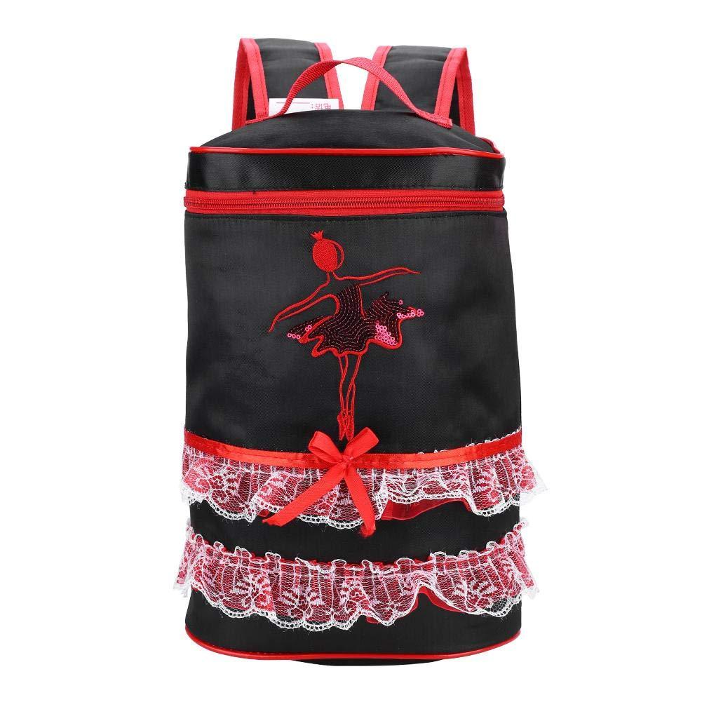Sac de Danse pour Fille Sac de Danse de Ballet Mignon avec Dentelle Rose pour Enfants Filles de Danseuses koulate Sac /à Dos de Danse 1#