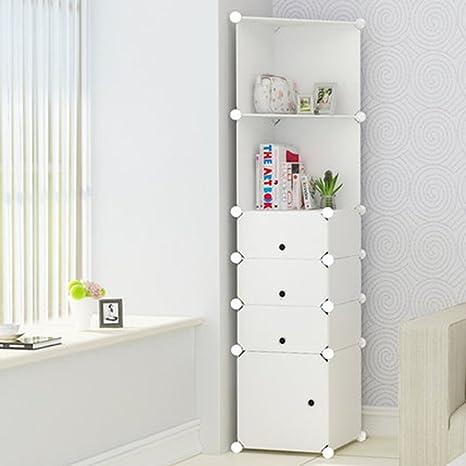 Amazon.de: Cqq Kleiderschrank Einfache Moderne Eckschrank ...