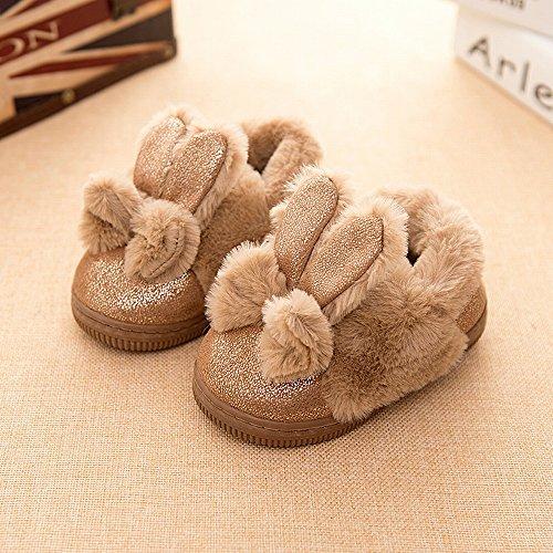 Kinder-Baumwoll-Hausschuhe mit Winter Warm Rutschfeste Baby-Hausschuhe Indoor-Drag-Jungen und Mädchen Baumwollschuhe,C,15 Yards