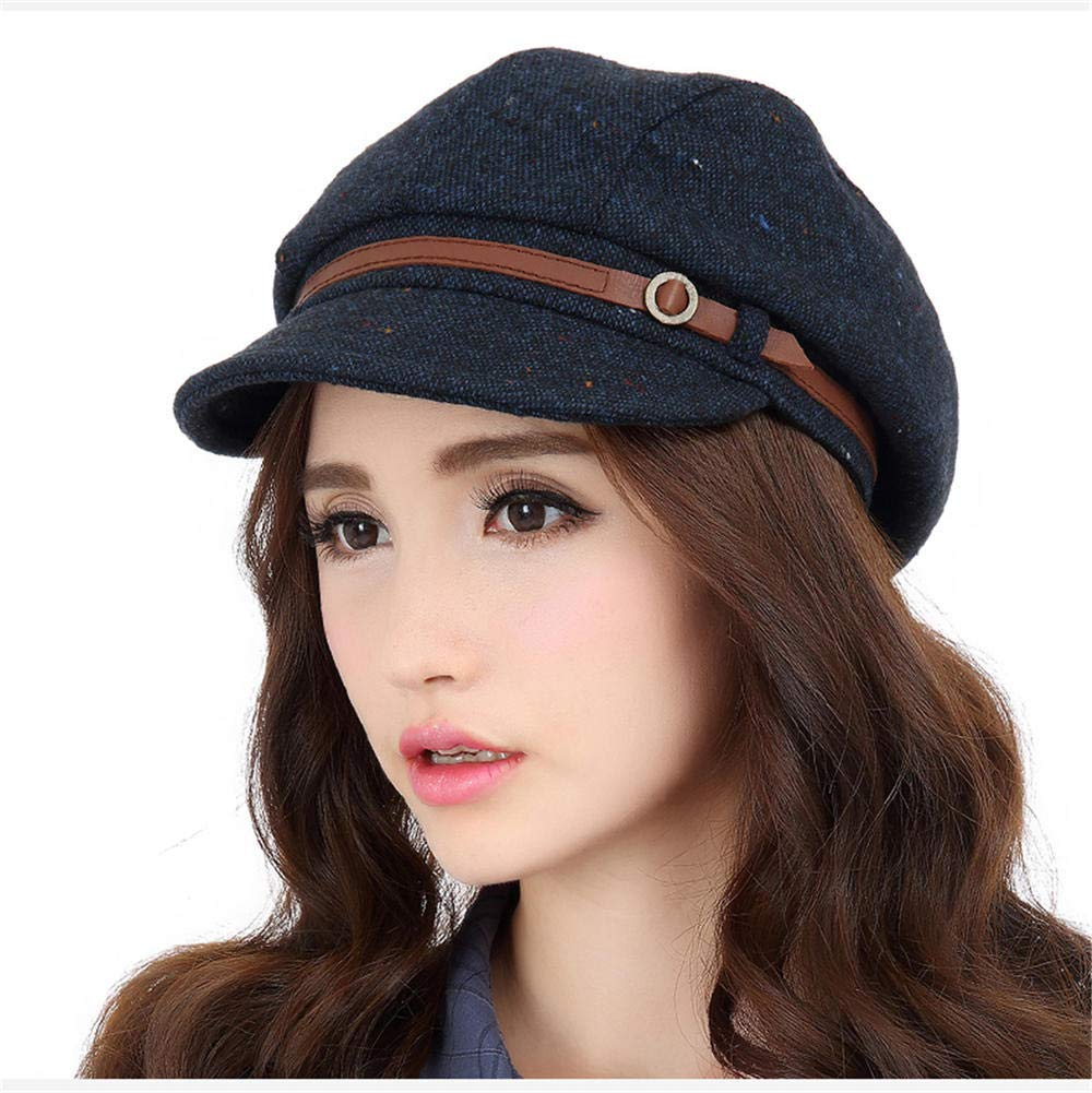 Ladies Summer Women's Spring Elegant Casual Beray Foldable Sun Hat Blue