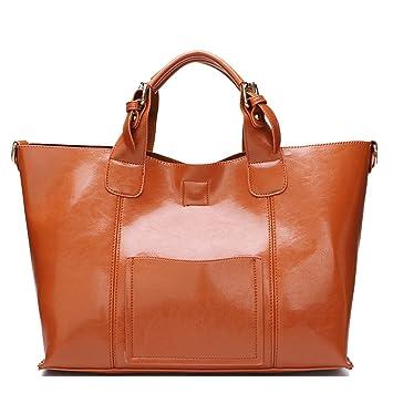 cc566b58ddccca JVPS 49-K echtes Leder Tote Bag Damen pendeln große Einkaufstasche A 4 Größe  große