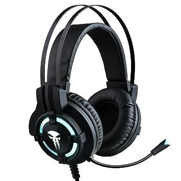 Nozdom Auriculares Gaming con micrófono Auriculares Juegos PS4 Xbox One 3.5 mm USB Hilo DE 2.1