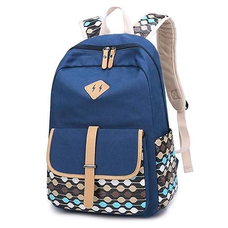 HE-bag Mochila de Viaje de la Universidad, Mochila Escolar para niñas con Mochila