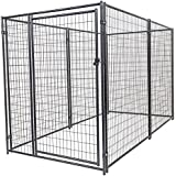 Lucky Dog CL 66150 Modular Welded Wire Kennel, 6 x 5 x 10', Black