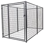 Image of Dog Kennel - Lucky Dog Modular Box Kennel - This Welded Animal Enclosure is Perfect for Medium to Large Dogs and Animals and is Designed with Their Safety and Comfort In Mind. Dimensions (6'H x 10'L x 5'W); 131 lbs