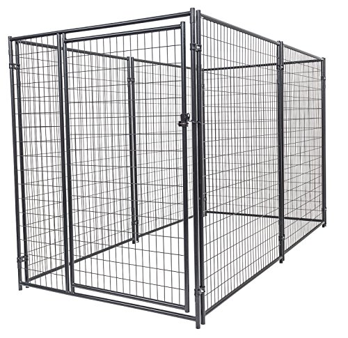 Akc Kennel Dog - Dog Kennel - Lucky Dog Modular Box Kennel - This Welded Animal Enclosure is Perfect for Medium to Large Dogs and Animals and is Designed with Their Safety and Comfort In Mind. Dimensions (6'H x 10'L x 5'W); 131 lbs