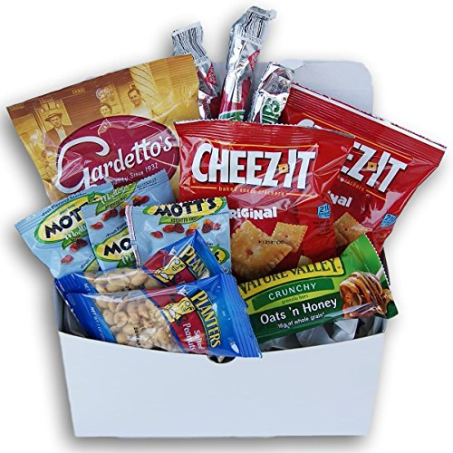 Good Luck! Message Care Package (12 Count) Snacks Gift For College Students, Military, Or Any Loved -
