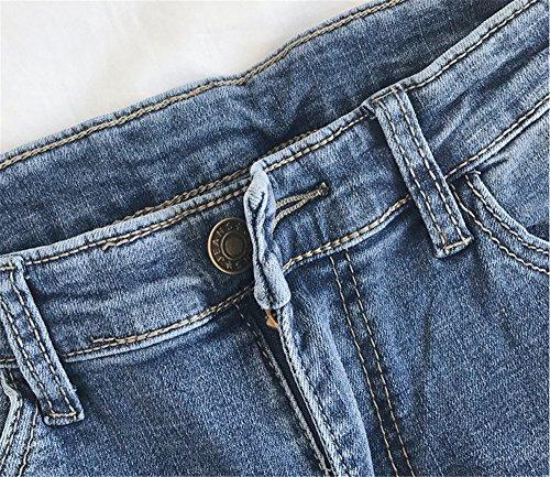 Autunno Skinny boot Elasticizzati Bordi Blu strappati Inverno Straight Calzoni Eleganti Fit Jeans JOTHIN Corea 2017 Slim Donna Pantaloni cut BZvXxw5qA