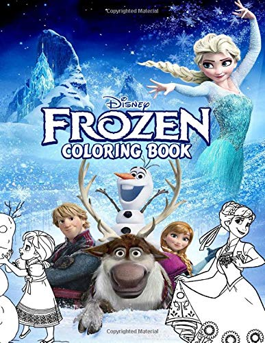 Frozen Coloring Book A Perfect Gift For Kids And Adults Before Upcoming Frozen 2 Movie Over 50 Coloring Pages Of Frozen Movie Elsa Anna Hans Olaf To Inspire Creativity And Relaxation