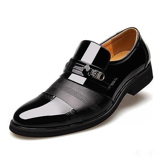 Blivener - Botas Mocasines de Charol Hombre, Color Negro, Talla 47: Amazon.es: Zapatos y complementos