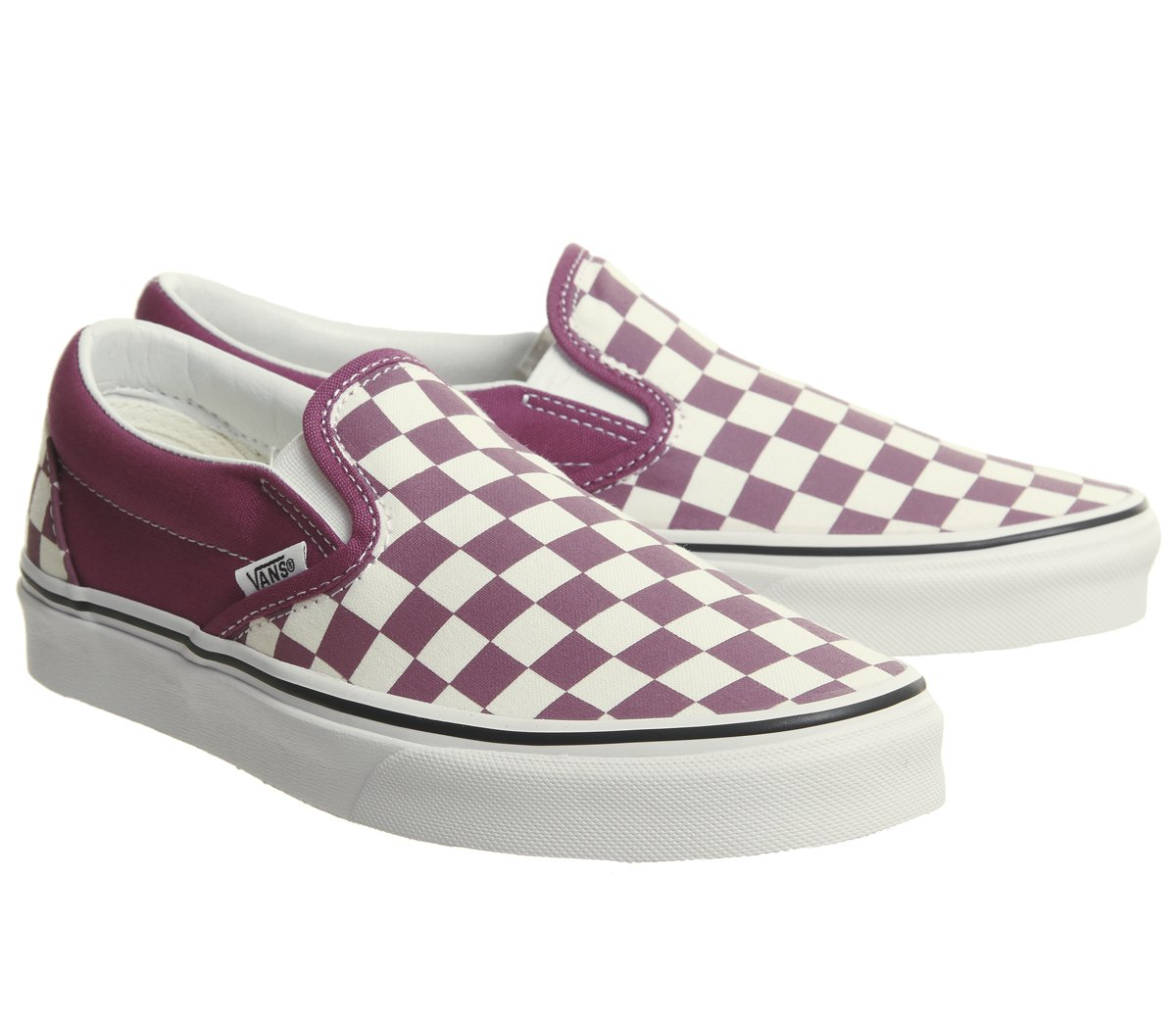 Vans Unisex Classic (Checkerboard) Slip-On Skate Shoe B078Y7NXRL 8 White D(M) US|Dry Rose / White 8 f573f5
