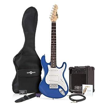 Guitarra Eléctrica LA 3/4 + Paquete de Amplificador de 10 W Azul: Amazon.es: Instrumentos musicales