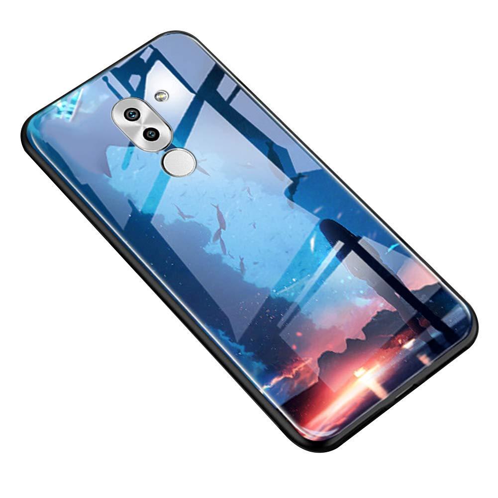 Funda Compatible con Huawei Honor 6X.Carcasa Caso Vidrio Luminoso ...