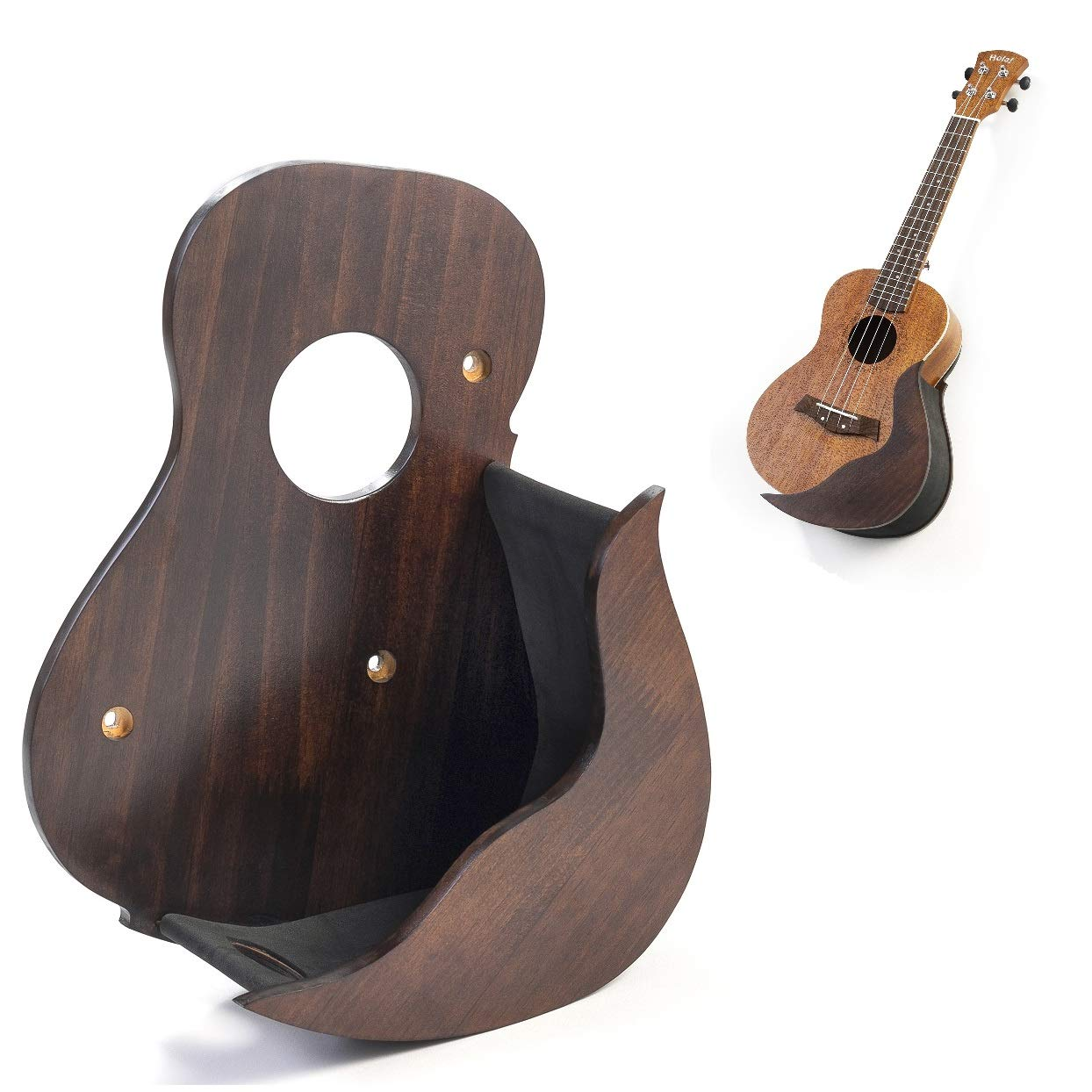 Black Portable Folding Ukulele Stand by Hola Music
